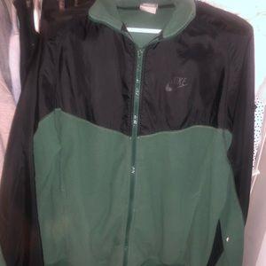 Used Nike Vintage Zip Up Jacket - Green